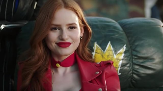 Choker red outfit worn by Cheryl Blossom (Madelaine Petsch) seen in Riverdale Season 3 Episode 3 - TV Show Outfits and Products