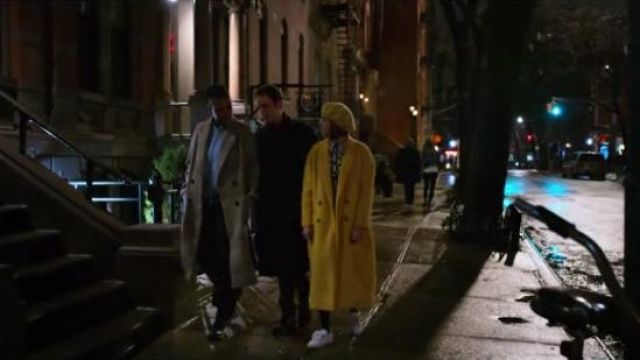Cinq à Sept Yellow Maya Long Double-Breasted Coat outfit worn by Infinity Jackson (Zoey Deutch) in The Politician Season 1 Episode 8 - TV Show Outfits and Products