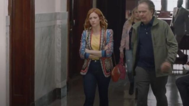 Clare V. Red Midi Leather Crossbody Bag outfit worn by Julia Bechley (Brittany Snow) in Almost Family Season 1 Episode 2 - TV Show Outfits and Products