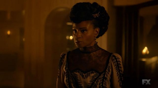 Clip spider Dinah Stevens (Adina Porter) seen in American Horror Story Revelation (Season 8 Episode 4) - TV Show Outfits and Products