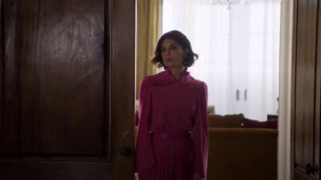 Co Crepe Blouse outfit seen on Cristal Jennings (Ana Brenda Contreras) in Dynasty (S01E19) - TV Show Outfits and Products