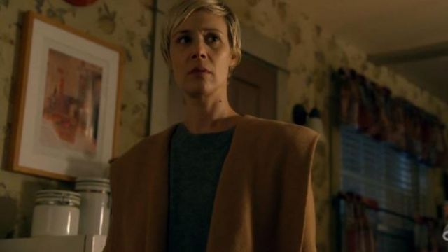Coat, camel Bonnie Winterbottom (Liza Weil) seen in the How to get away with Murder Season 5 Episode 6 - TV Show Outfits and Products