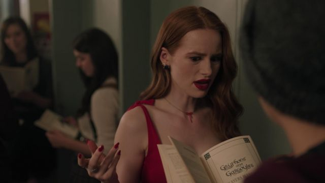 Collar with red bow Marc by Marc Jacobs outfit worn by Cheryl Blossom (Madelaine Petsch) seen in Riverdale Season 3 Episode 3 - TV Show Outfits and Products