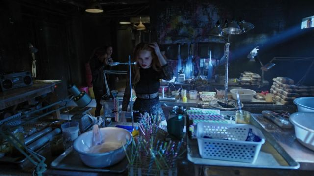 Combination of black lace outfit worn by Cheryl Blossom (Madelaine Petsch) seen in Riverdale Season 3 Episode 3 - TV Show Outfits and Products