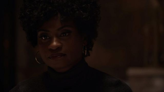 Creoles of Beverly Hope (Adina Porter) seen in American Horror Story (Season 7 Episode 7) - TV Show Outfits and Products