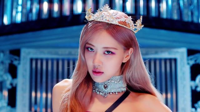 Crown tiara gold and rhinestone pink in the clip Kill-This Love of BlackPink - Youtube Outfits and Products