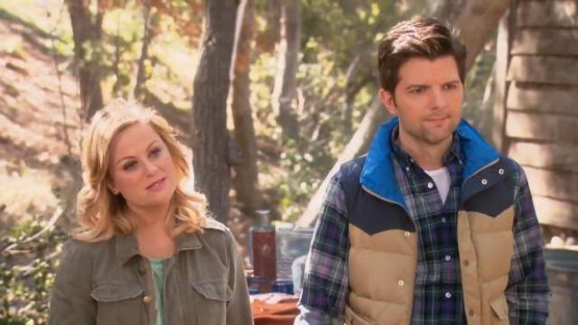 Current Elliott Battalion Jacket outfit worn by Leslie Knope (Amy Poehler) in Parks and Recreation (S05E22) - TV Show Outfits and Products