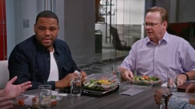 D Star Raw Wolker Extra Trim Fit Quilted Shirt Jacket outfit worn by Andre 'Dre' Johnson (Anthony Anderson) in black-ish (S02E13) (S02E13) (S02E13) - TV Show Outfits and Products