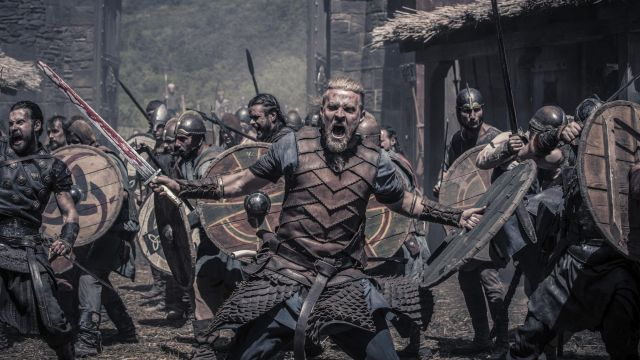 Dagger viking Ragnar the Young (Tobias Santelmann) seen in The Last Kingdom Season 2 Episode 4 - TV Show Outfits and Products