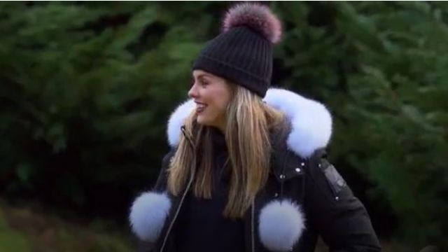 Debbie Fox Fur Trim Down Bomber Jacket outfit worn by Hannah Brown in The Bachelorette (Season15 Episode05) - TV Show Outfits and Products