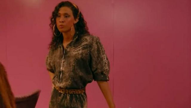 Denim black jumpsuit outfit worn by Blanca Rodriguez (Mj Rodriguez) in Pose (S02E02) - TV Show Outfits and Products