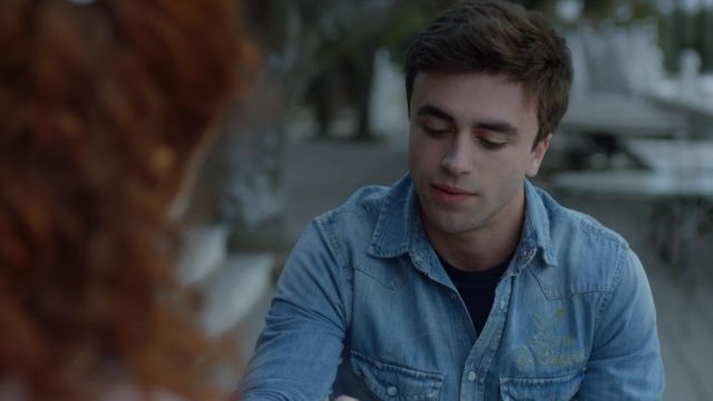 Denim shirt of Samuel (Itzan Escamilla) seen in Elite Season 1 Episode 2 - TV Show Outfits and Products
