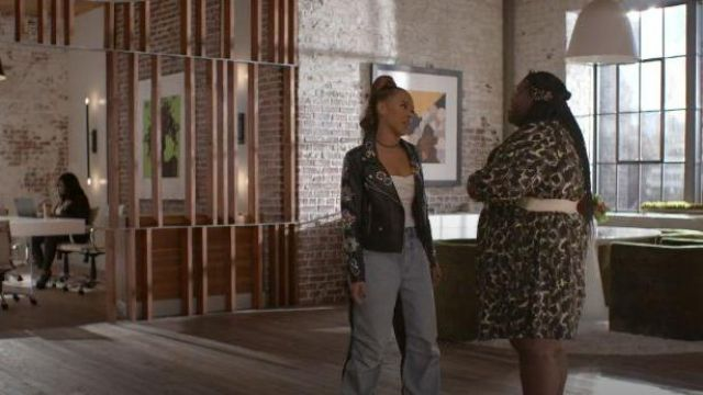 Denim x Alexander Wang Denim Side Stripe Jeans outfit worn by Tiana Brown (Serayah McNeill) in Empire Season 06 Episode 06 - TV Show Outfits and Products