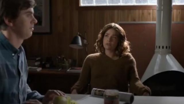 Diane Von Furstenberg Carmella V-neck wool and alpaca-blend jumper outfit worn by Lea Dilallo (Paige Spara) in The Good Doctor Season 3 Episode 2 - TV Show Outfits and Products