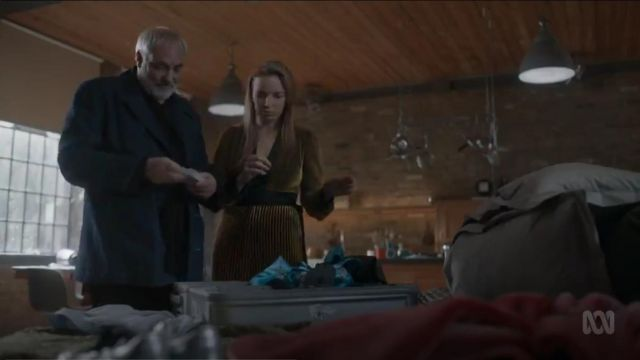 Diane Von Furstenberg Slash Jumpsuit outfit worn by Villanelle (Jodie Comer) in Killing Eve (S02E07) - TV Show Outfits and Products
