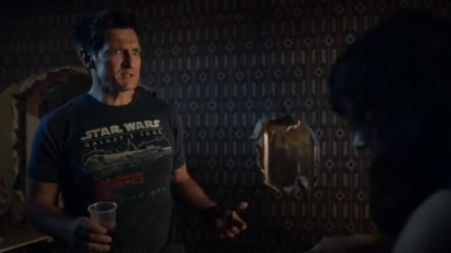 Disneyland Star Wars Galaxy's edge T-shirt outfit worn by John Nolan (Nathan Fillion) in The Rookie Season 2 Episode 1 - TV Show Outfits and Products