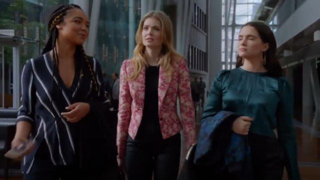 Dolce & Gabbana Jacquard Blazer outfit worn by Sutton Brady (Meghann Fahy) in The Bold Type (S03E07) - TV Show Outfits and Products