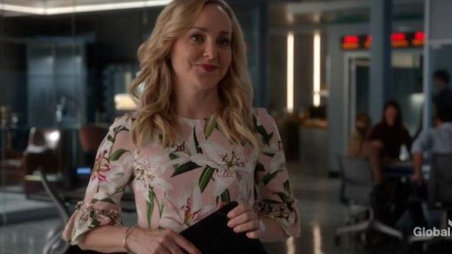 Dolce & Gabbana Ruffled Lily Print Dress outfit worn by Marissa Morgan (Geneva Carr) in Bull Season 04 Episode 07 - TV Show Outfits and Products