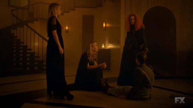 Dress black Free People of Madison Montgomery (Emma Roberts) seen in American Horror Story Revelation (Season 8 Episode 4) - TV Show Outfits and Products