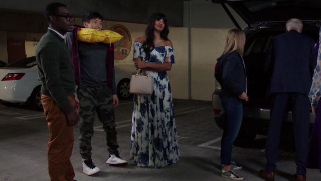 Dress flowered one of Ms. Al-Jamil (Jameela Jamil) seen in The Good Place (Season 3 Episode 7) - TV Show Outfits and Products