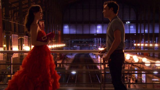 Dress prom red of Blair Waldorf (Leighton Meester) seen in Gossip Girl Season 4 Episode 2 - TV Show Outfits and Products