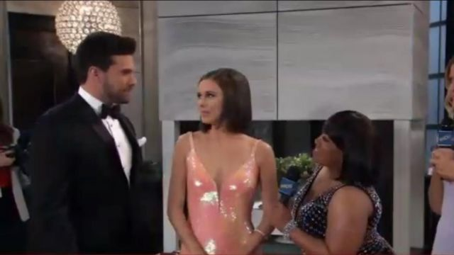 Dress the Population Harper Sequin Sleeveless outfit worn by Katelyn MacMullin as seen in General Hospital May 17, 2019 - TV Show Outfits and Products