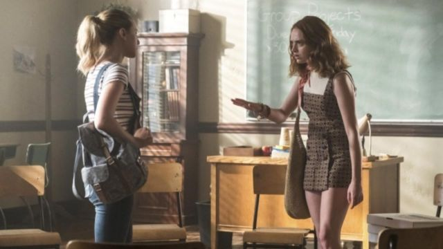 Dungarees in jean Betty Cooper (Lili Reinhart) seen in Riverdale Season 3 Episode 3 - TV Show Outfits and Products