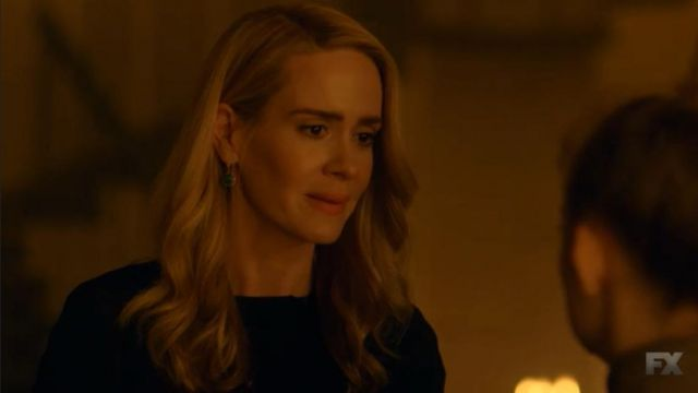 Earrings Cordelia Goode (Sarah Paulson) seen in American Horror Story Revelation (Season 8 Episode 4) - TV Show Outfits and Products