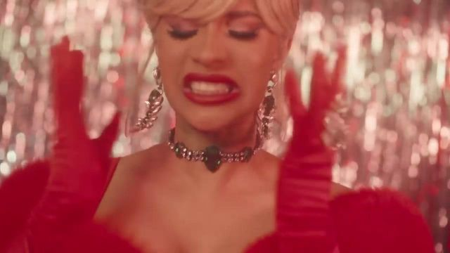 Earrings: House of Emmanuele Emerald Scorpion Cardi B in the clip Bartier Cardi (feat. 21 Savage) - Youtube Outfits and Products
