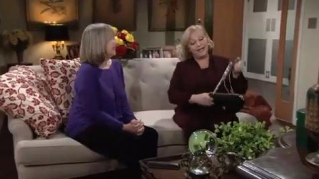 Eileen Fisher Organic Linen & Cotton Knit Boxy Top outfit worn by Marla Adams as seen in The Young and the Restless June 13,2019 - TV Show Outfits and Products