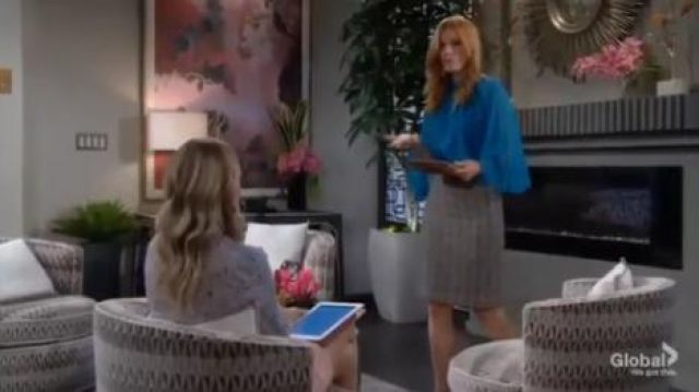 Elie Tahari Adrianna blouse outfit worn by Phyllis Summers (Michelle Stafford) in The Young and the Restless October 8, 2019 - TV Show Outfits and Products