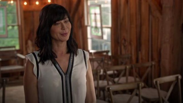 Elie Tahari Vallie Blouse outfit worn by Cassie Nightingale (Catherine Bell) in Good Witch (S05E02) - TV Show Outfits and Products