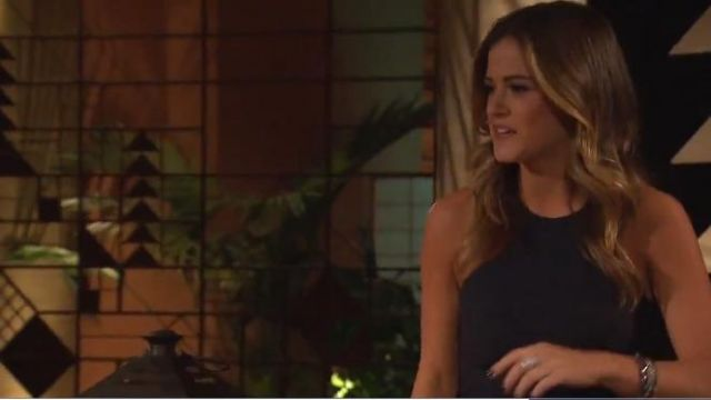 Elizabeth and James Keaten Dress outfit worn by JoJo Fletcher in The Bachelorette (S12E04) - TV Show Outfits and Products