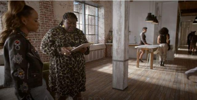 Eloquii Green Leopard Print Shirt Dress outfit worn by Becky (Gabourey Sidibe) in Empire Season 06 Episode 06 - TV Show Outfits and Products