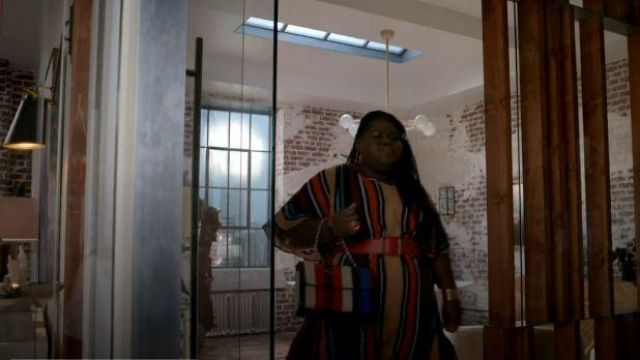 Eloquii Multi Striped Maxi Print Dress outfit worn by Becky (Gabourey Sidibe) in Empire Season 06 Episode 05 - TV Show Outfits and Products