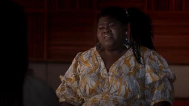 Eloquii orange tropical print dress outfit worn by Becky (Gabourey Sidibe) in Empire Season 06 Episode 03 - TV Show Outfits and Products
