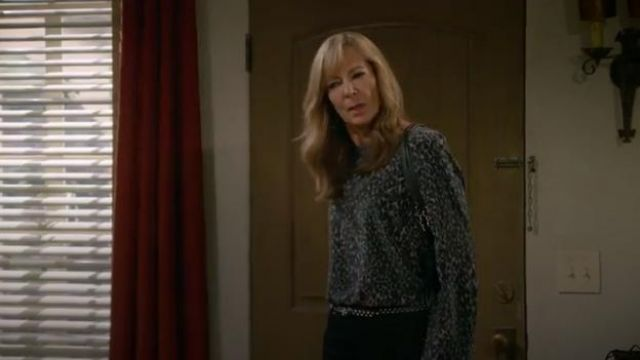 Equipement Abeline Leopard Print Washed Silk Blouse outfit worn by Bonnie (Allison Janney) in Mom Season 7 Episode 3 - TV Show Outfits and Products