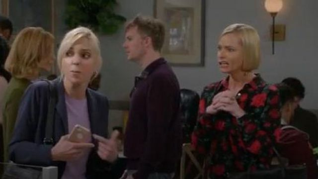Equipment Floral Blouse outfit worn by Jill Kendall (Jaime Pressly) in Mom Season 07 Episode 06 - TV Show Outfits and Products