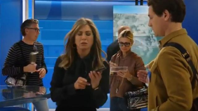 Equipment Luis Silk Shirt outfit worn by Alex Levy (Jennifer Aniston) in The Morning Show Season 01 Episode 02 - TV Show Outfits and Products