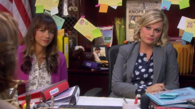 Equipment Lynn blouse in daisy print outfit worn by Leslie Knope (Amy Poehler) in Parks and Recreation (S06E01) - TV Show Outfits and Products