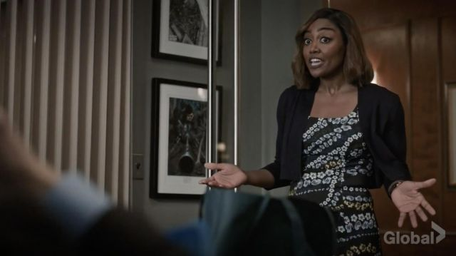 Fashion Trends 2021: Erdem Tate Floral Print Neoprene A Line Dress outfit seen on Daisy Grant (Patina Miller) in Madam Secretary S05E12