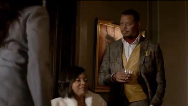 Etro grey floral-print blazer outfit worn by Lucious Lyon (Terrence Howard) in Empire Season 06 Episode 03 - TV Show Outfits and Products