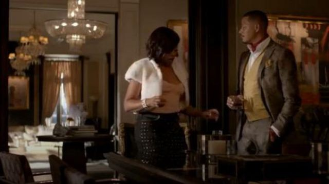 Etro grey floral-print chinos outfit worn by Lucious Lyon (Terrence Howard) in Empire Season 06 Episode 03 - TV Show Outfits and Products