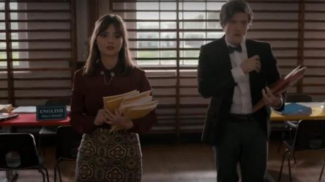 Etsy Moon Wooden Collar Clips outfit seen on Clara (Jenna Coleman) in Doctor Who (S08E06) - TV Show Outfits and Products
