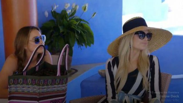Eugenia kim mirabel natural straw hat outfit worn by Kameron Westcott in The Real Housewives of Dallas Season 04 Episode 05 - TV Show Outfits and Products