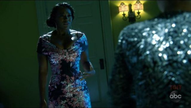 Evening dress with flowers from Michaela Pratt (Aja Naomi King) seen in ' How to get away with Murder (Season 5 Episode 2) - TV Show Outfits and Products