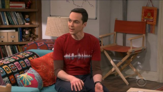 Expo Design By Humans Music City T Shirt outfit worn by Sheldon Cooper (Jim Parsons) in The Big Bang Theory (S12E22) - TV Show Outfits and Products