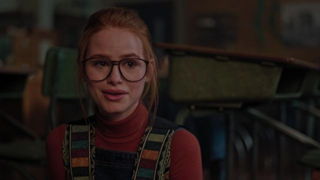 Eyeglasses vintage oversize outfit worn by Cheryl Blossom (Madelaine Petsch) seen in Riverdale Season 3 Episode 4 - TV Show Outfits and Products