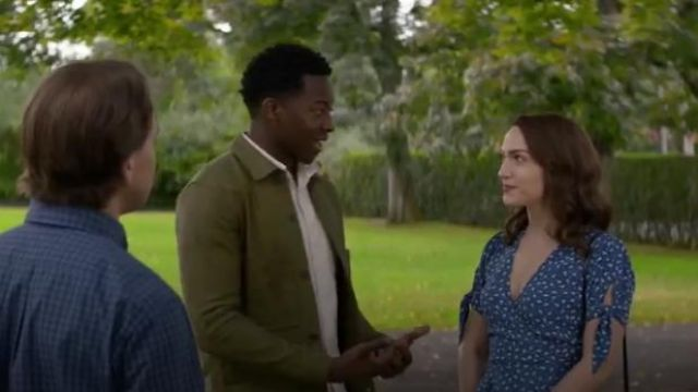 Faithfull The Brand Lucy Wrap Top outfit worn by Cara Bloom (Violett Beane) in God Friended Me Season 2 Episode 8 - TV Show Outfits and Products