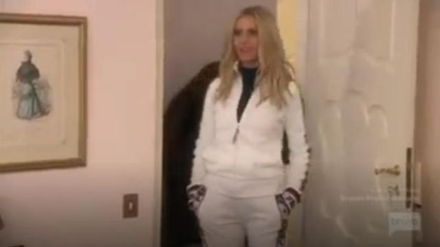 Fendi Embroidered Cotton-Blend Jersey Track Jacket outfit worn by Dorit Kemsley in The Real Housewives of Beverly Hills (S09E18) - TV Show Outfits and Products